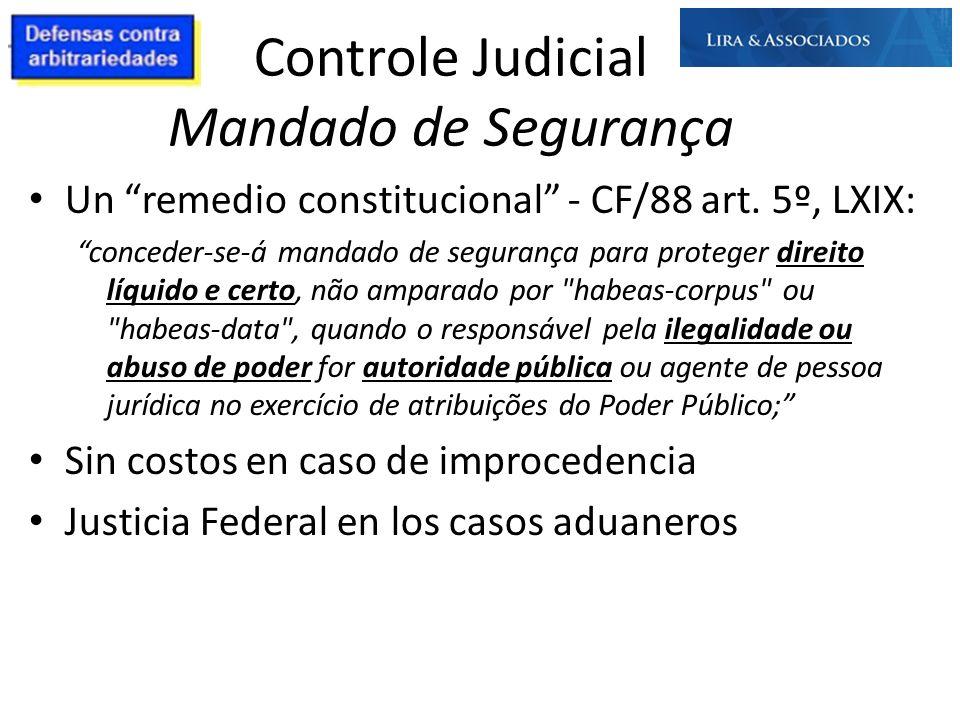 Controle Judicial Mandado de Segurança