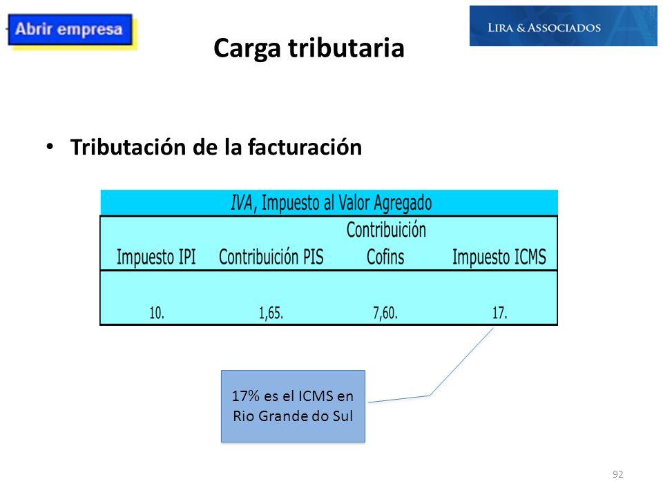 17% es el ICMS en Rio Grande do Sul