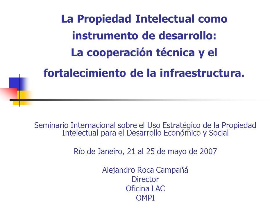 La Propiedad Intelectual como instrumento de desarrollo: La cooperación técnica y el fortalecimiento de la infraestructura.