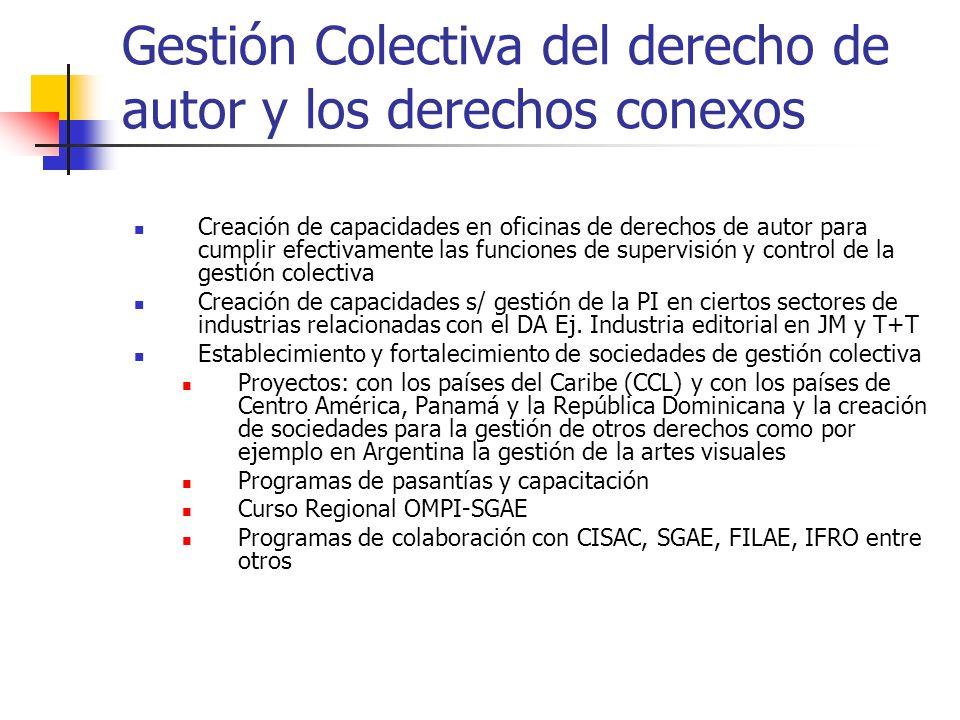 Gestión Colectiva del derecho de autor y los derechos conexos