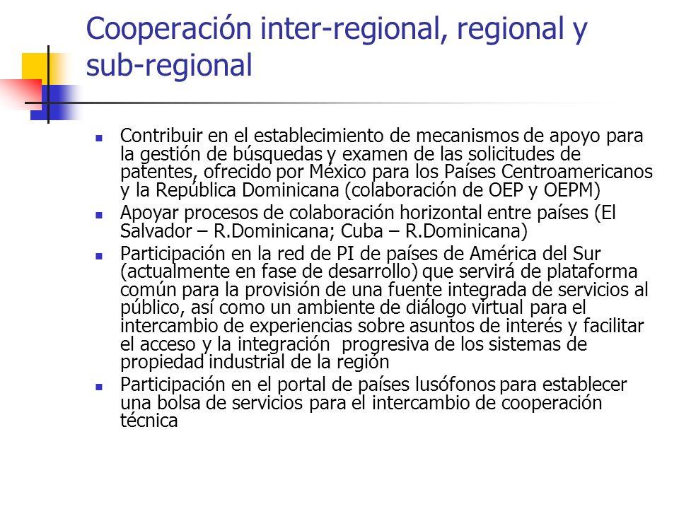 Cooperación inter-regional, regional y sub-regional