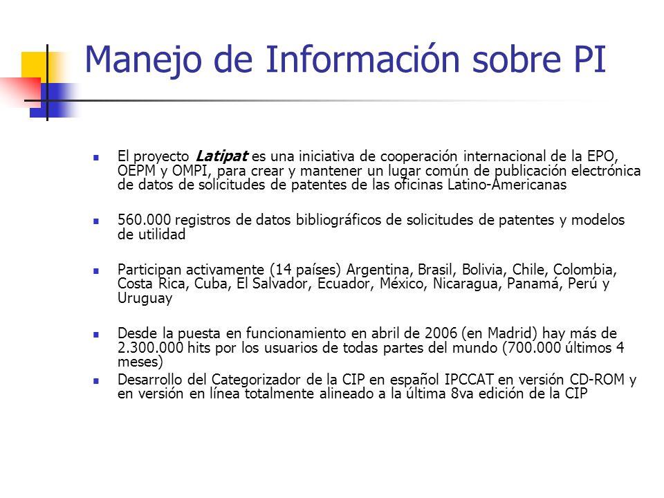 Manejo de Información sobre PI