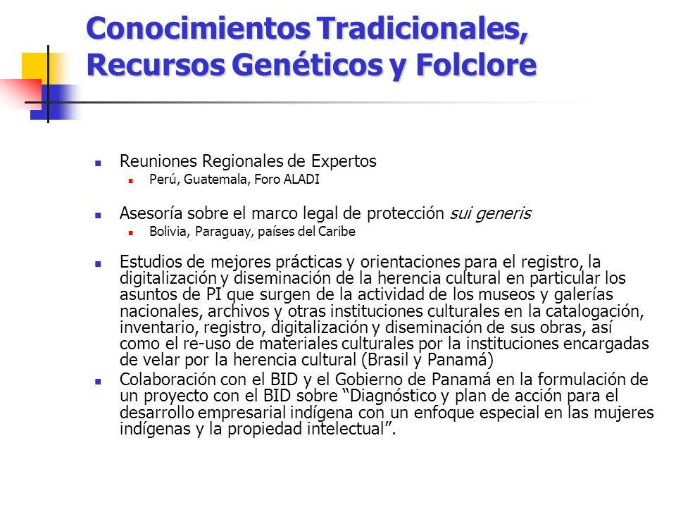 Conocimientos Tradicionales, Recursos Genéticos y Folclore