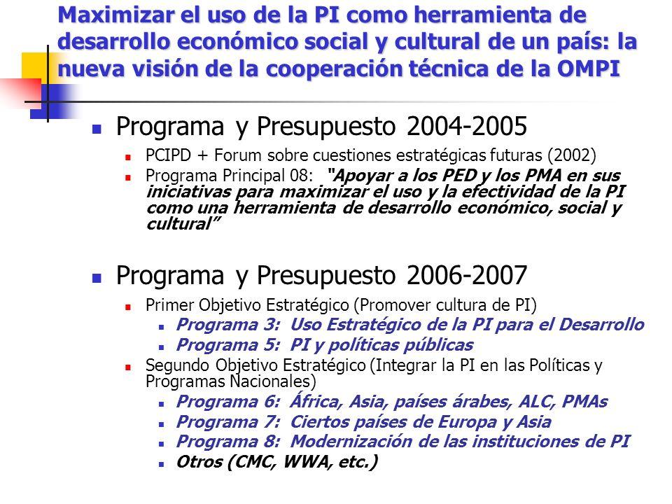 Programa y Presupuesto 2004-2005