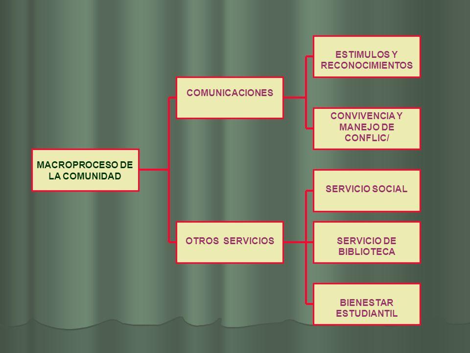 MACROPROCESO DE LA COMUNIDAD