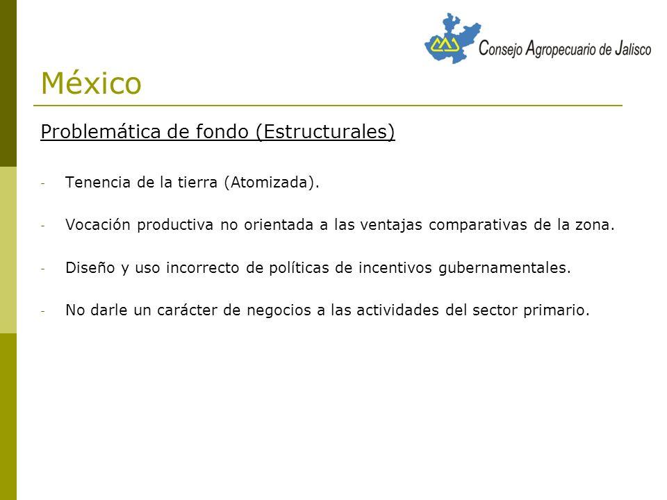 México Problemática de fondo (Estructurales)