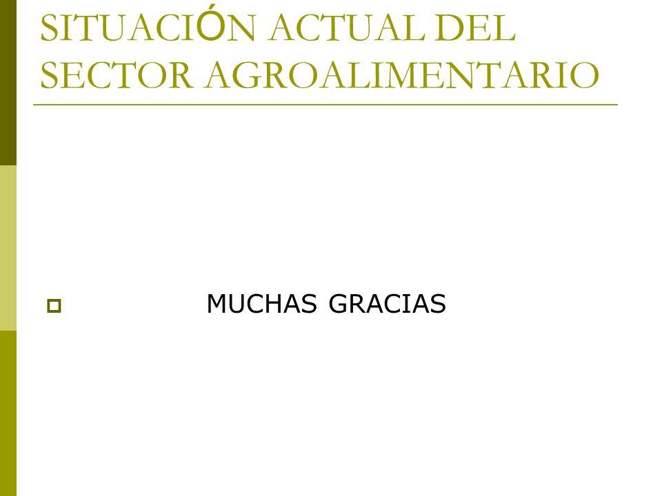 SITUACIÓN ACTUAL DEL SECTOR AGROALIMENTARIO