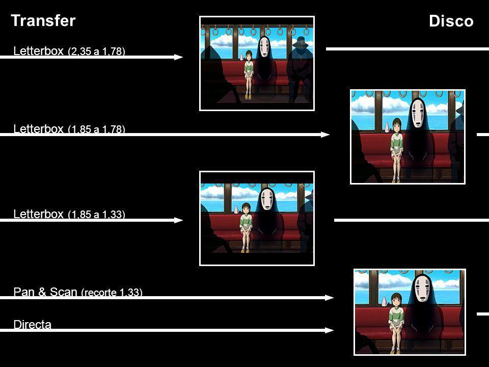 Transfer Disco Letterbox (2,35 a 1,78) Letterbox (1,85 a 1,78)