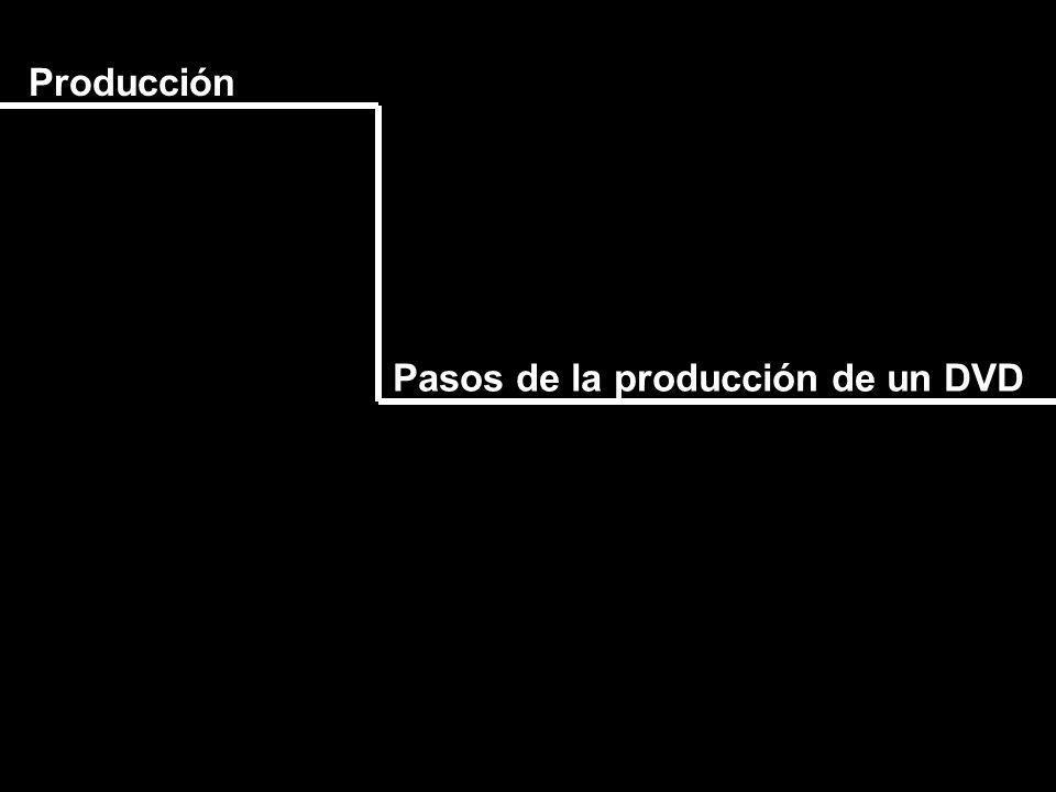 Producción Pasos de la producción de un DVD