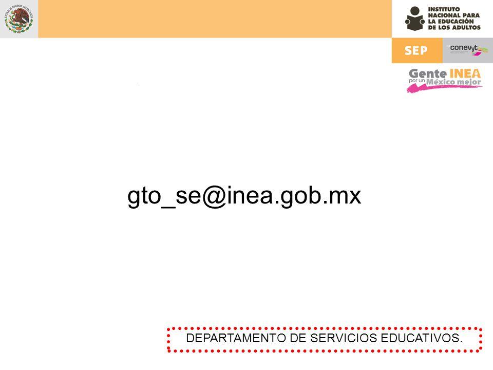 DEPARTAMENTO DE SERVICIOS EDUCATIVOS.