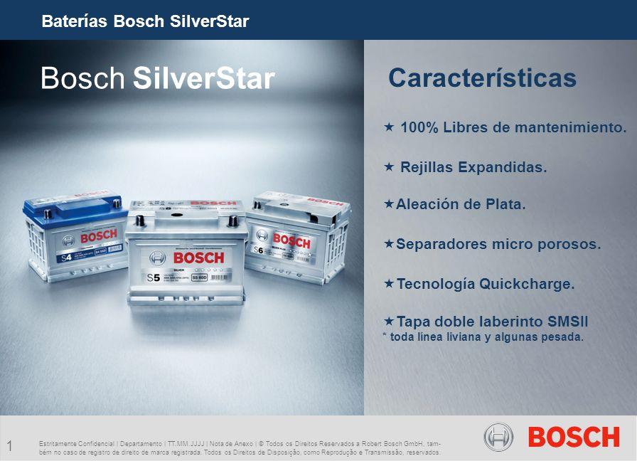 Bosch SilverStar Características Baterías Bosch SilverStar