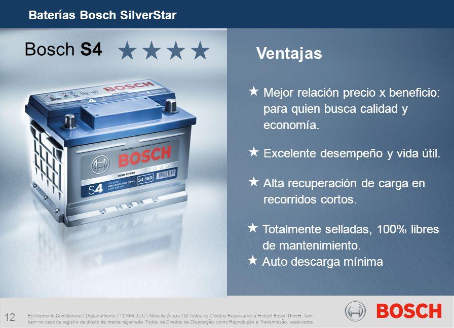 Bosch S4 Ventajas Baterías Bosch SilverStar