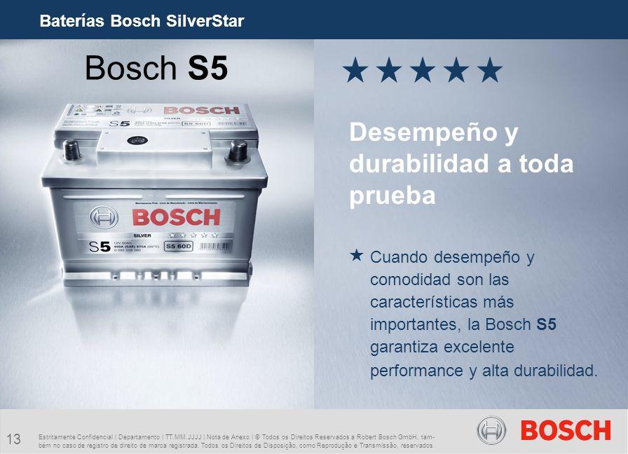 Bosch S5 Desempeño y durabilidad a toda prueba