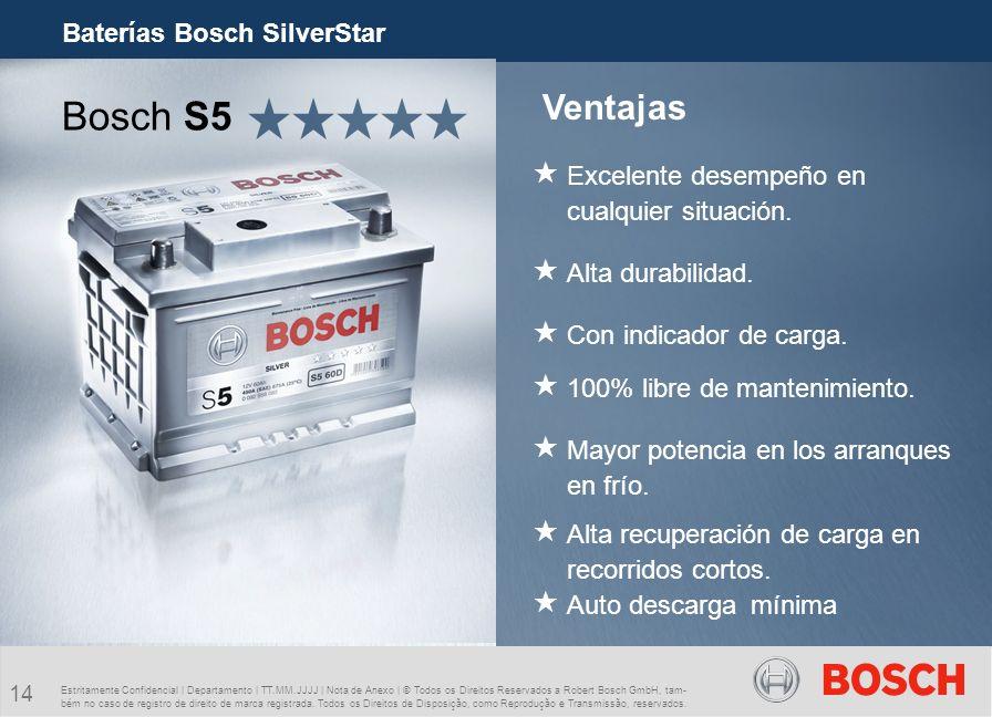 Bosch S5 Ventajas Baterías Bosch SilverStar