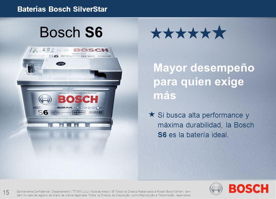 Bosch S6 Mayor desempeño para quien exige más