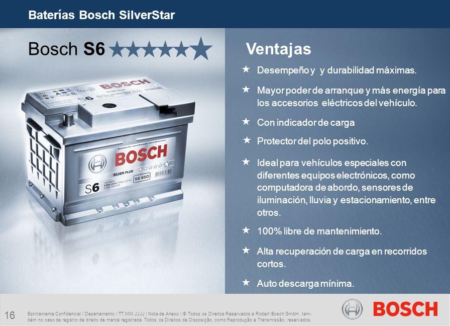 Bosch S6 Ventajas Baterías Bosch SilverStar