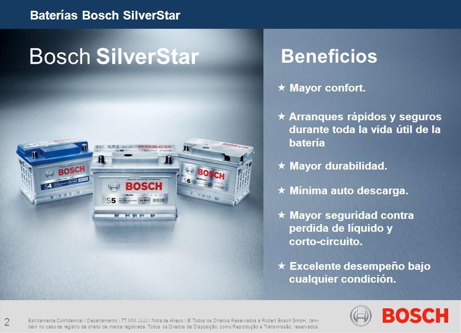 Bosch SilverStar Beneficios Baterías Bosch SilverStar Mayor confort.