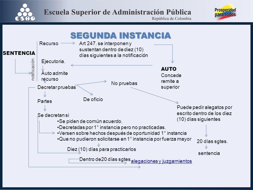 SEGUNDA INSTANCIA Recurso