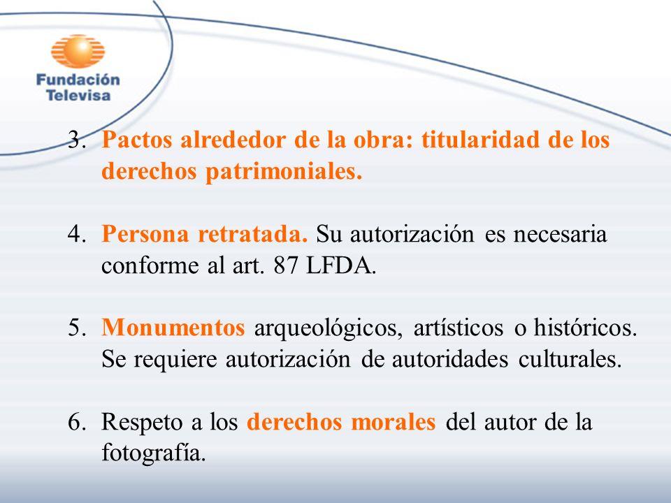 3. Pactos alrededor de la obra: titularidad de los derechos patrimoniales.