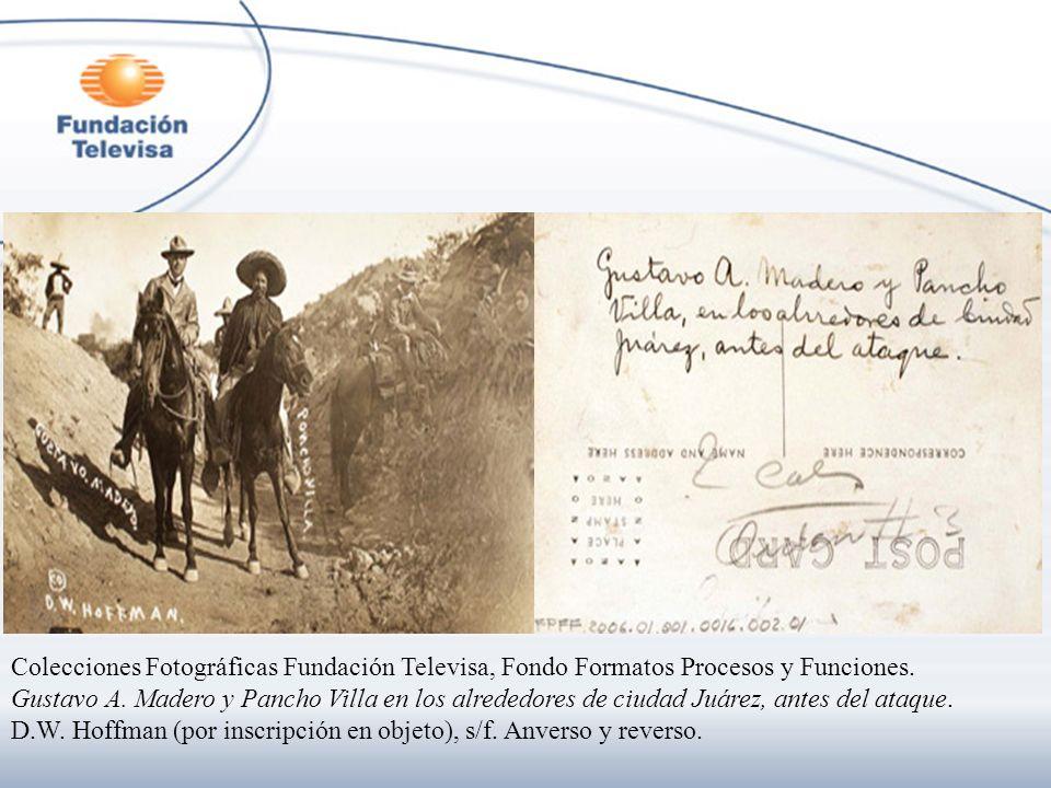 Colecciones Fotográficas Fundación Televisa, Fondo Formatos Procesos y Funciones.