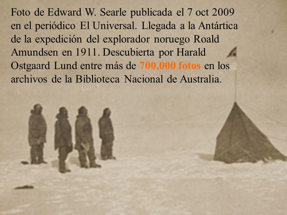Foto de Edward W. Searle publicada el 7 oct 2009 en el periódico El Universal.