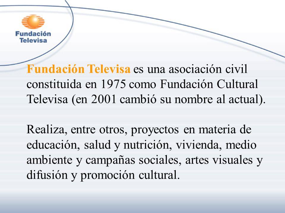 Fundación Televisa es una asociación civil constituida en 1975 como Fundación Cultural Televisa (en 2001 cambió su nombre al actual).