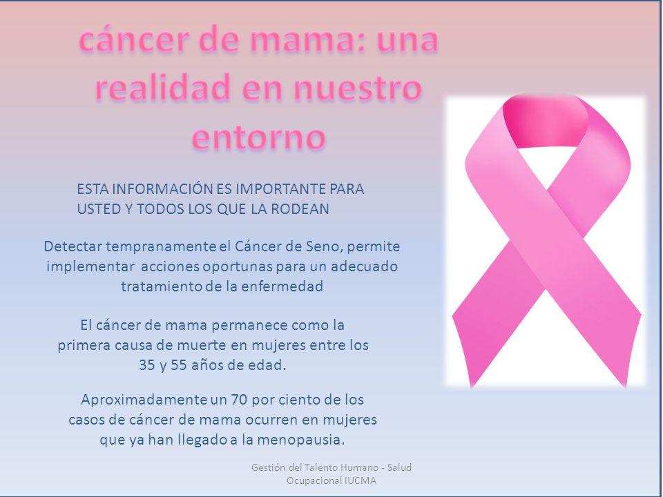 cáncer de mama: una realidad en nuestro entorno