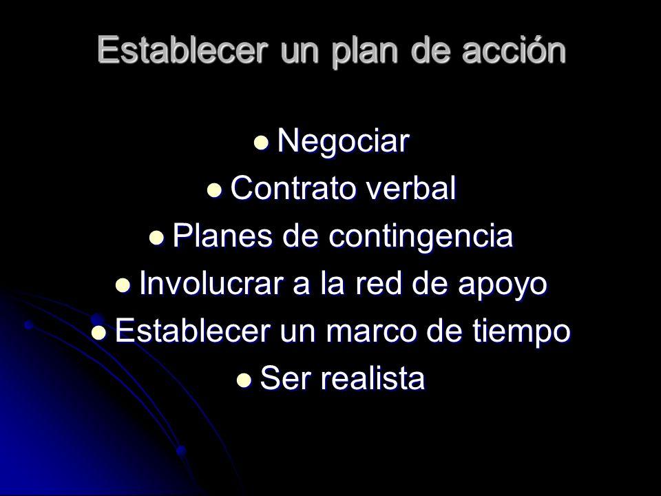 Establecer un plan de acción