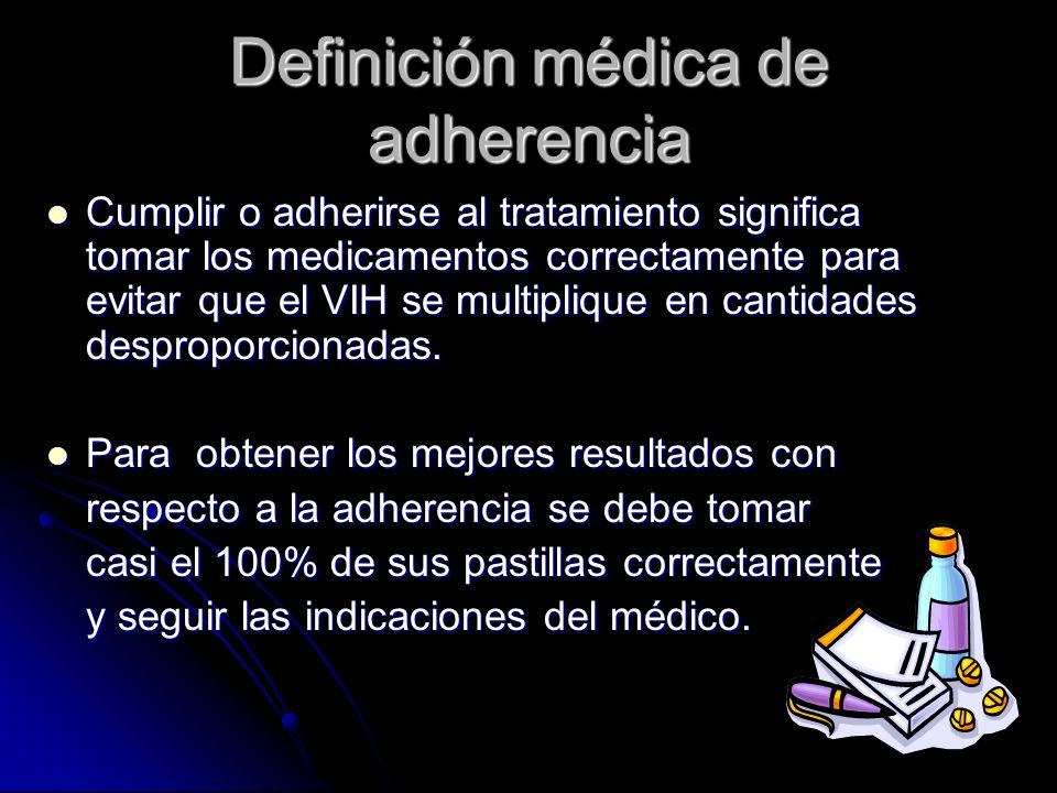 Definición médica de adherencia