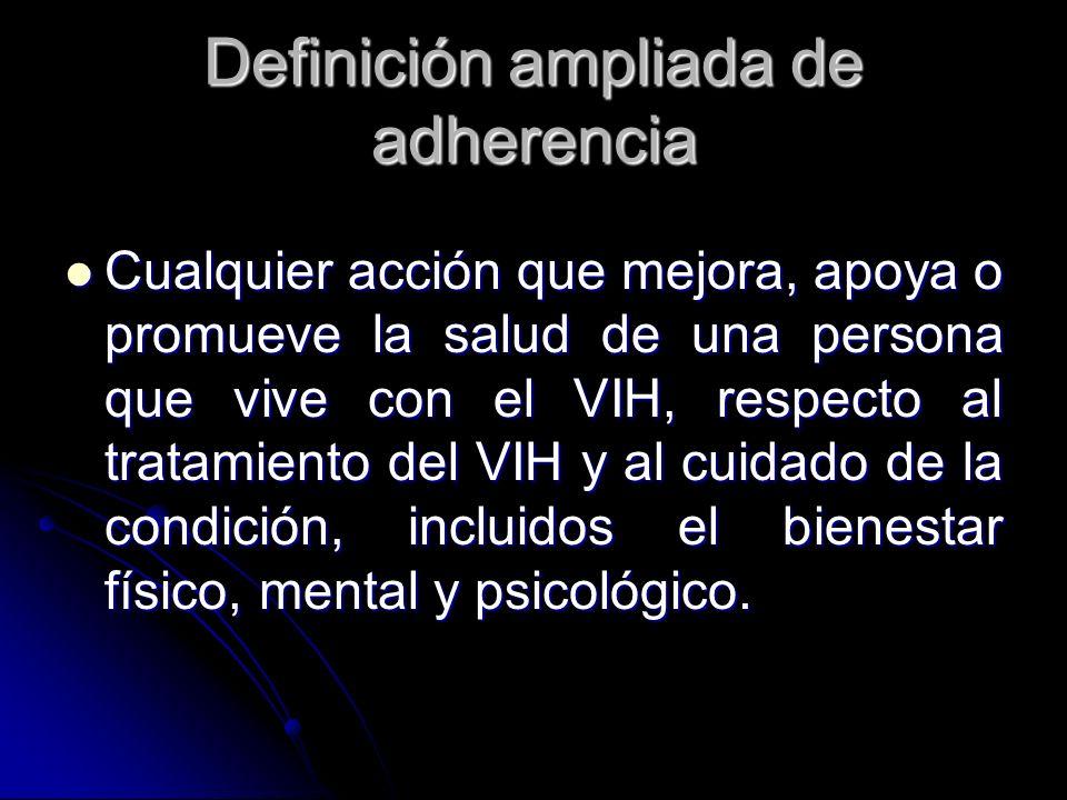 Definición ampliada de adherencia