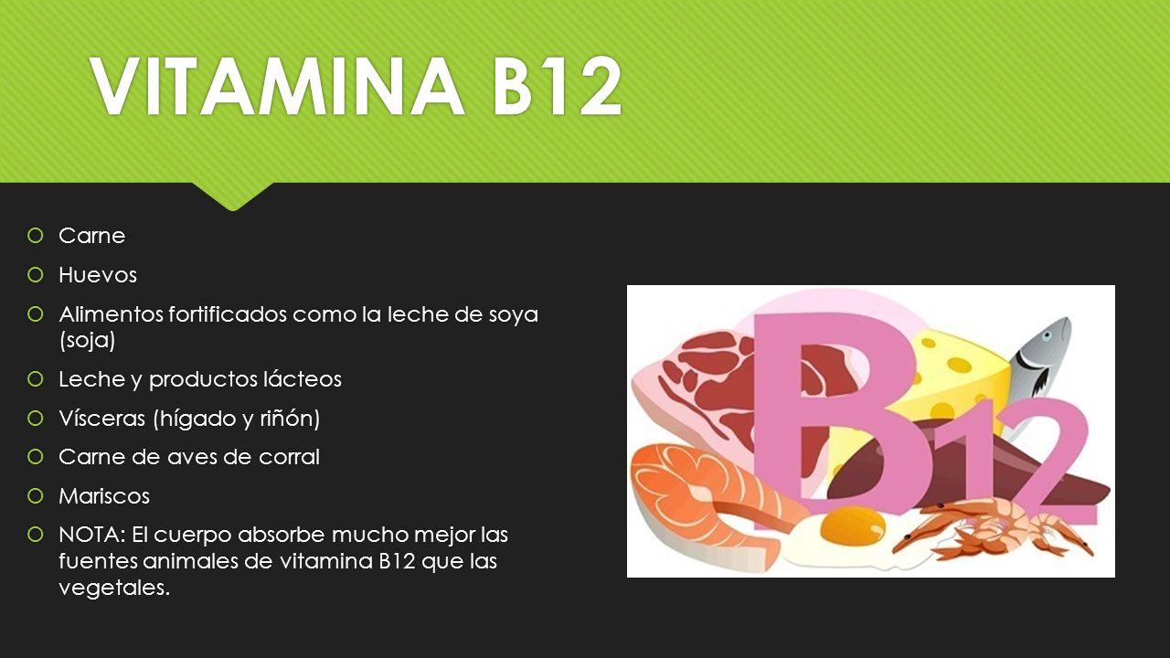 Vitaminas vitaminas ppt video online descargar - En que alimentos esta la vitamina b12 ...