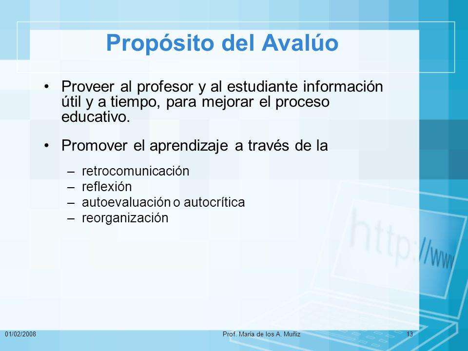 Prof. María de los A. Muñiz
