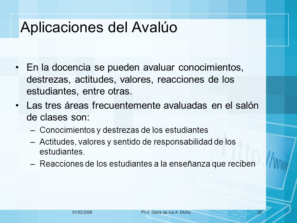 Aplicaciones del Avalúo