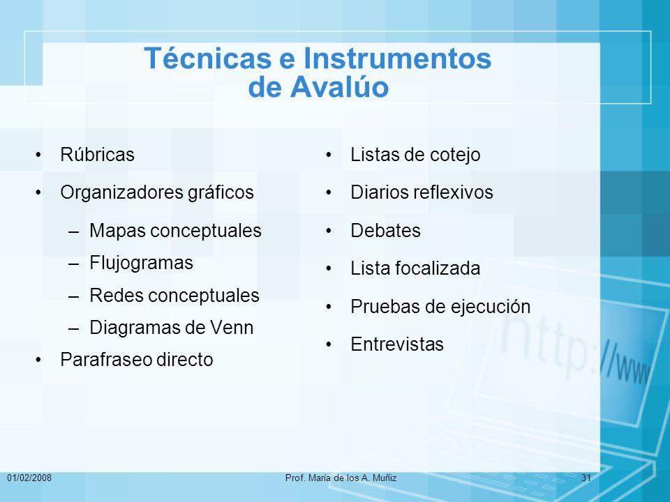 Técnicas e Instrumentos de Avalúo