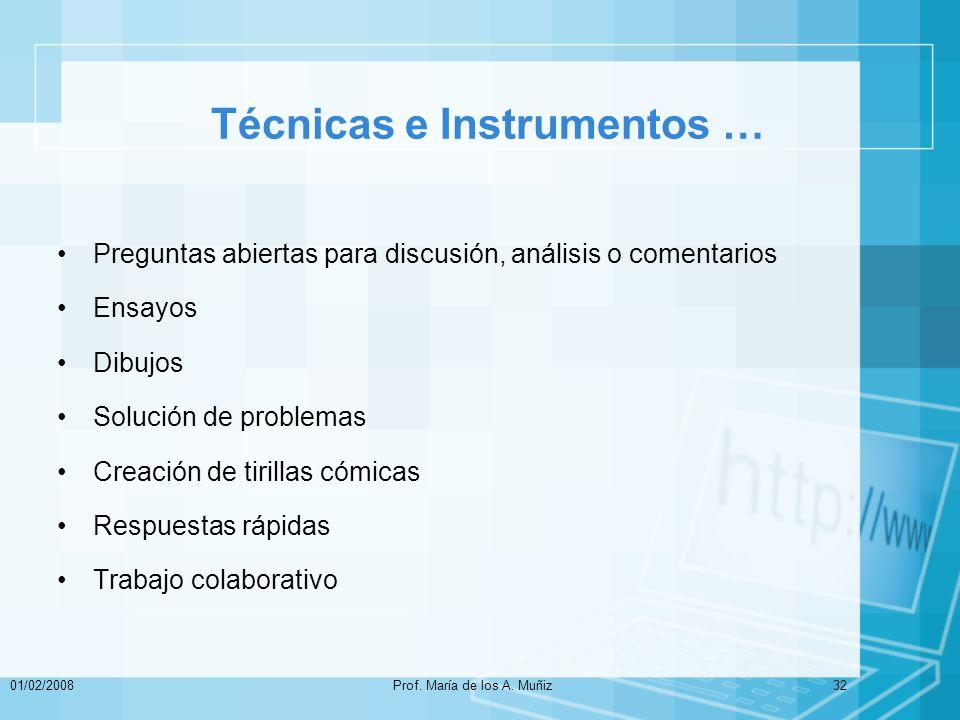 Técnicas e Instrumentos …