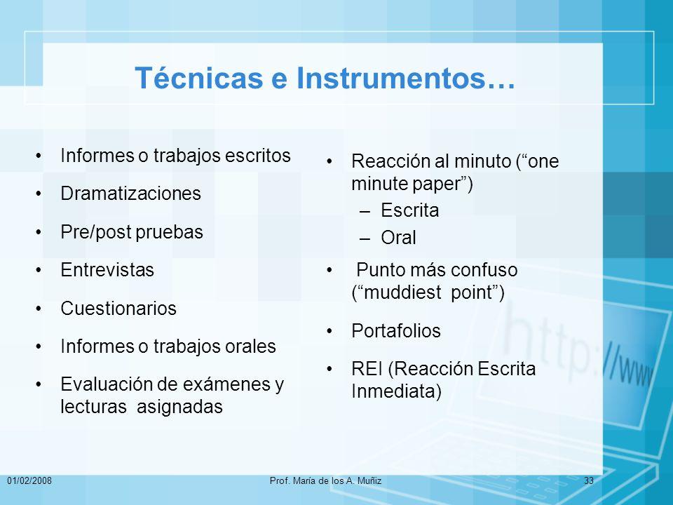 Técnicas e Instrumentos…