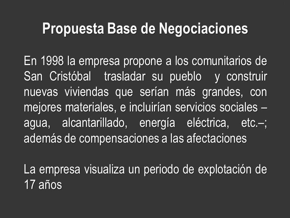 Propuesta Base de Negociaciones