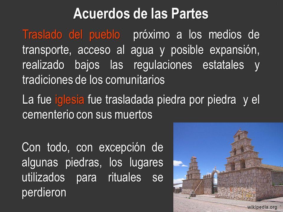 www.minerasancristobal.com Acuerdos de las Partes.