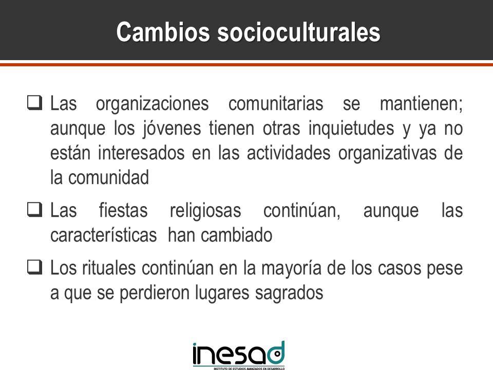 Cambios socioculturales