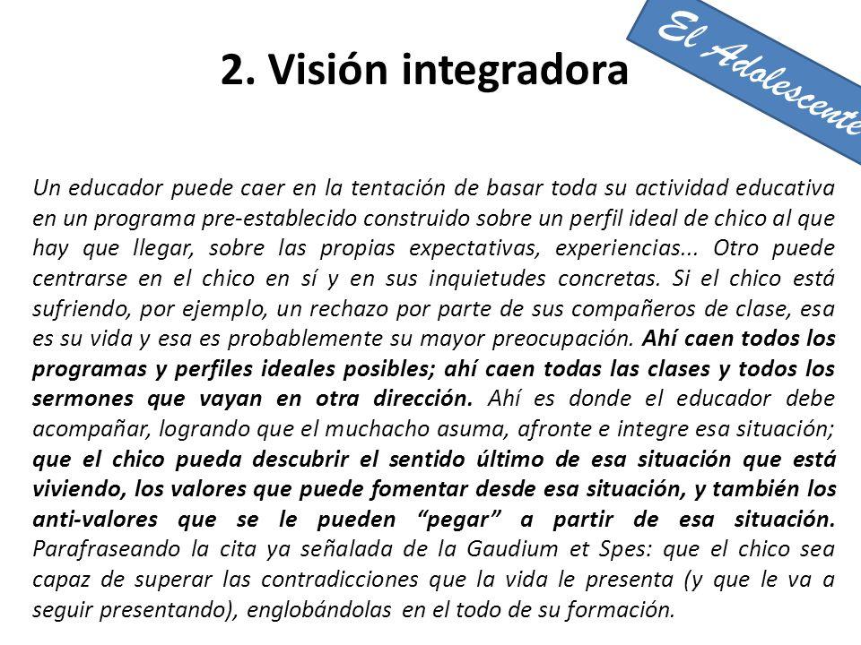 El Adolescente 2. Visión integradora