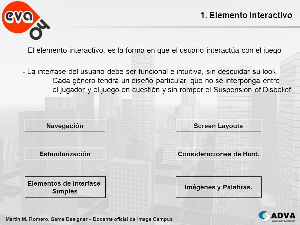 Consideraciones de Hard. Elementos de Interfase Simples