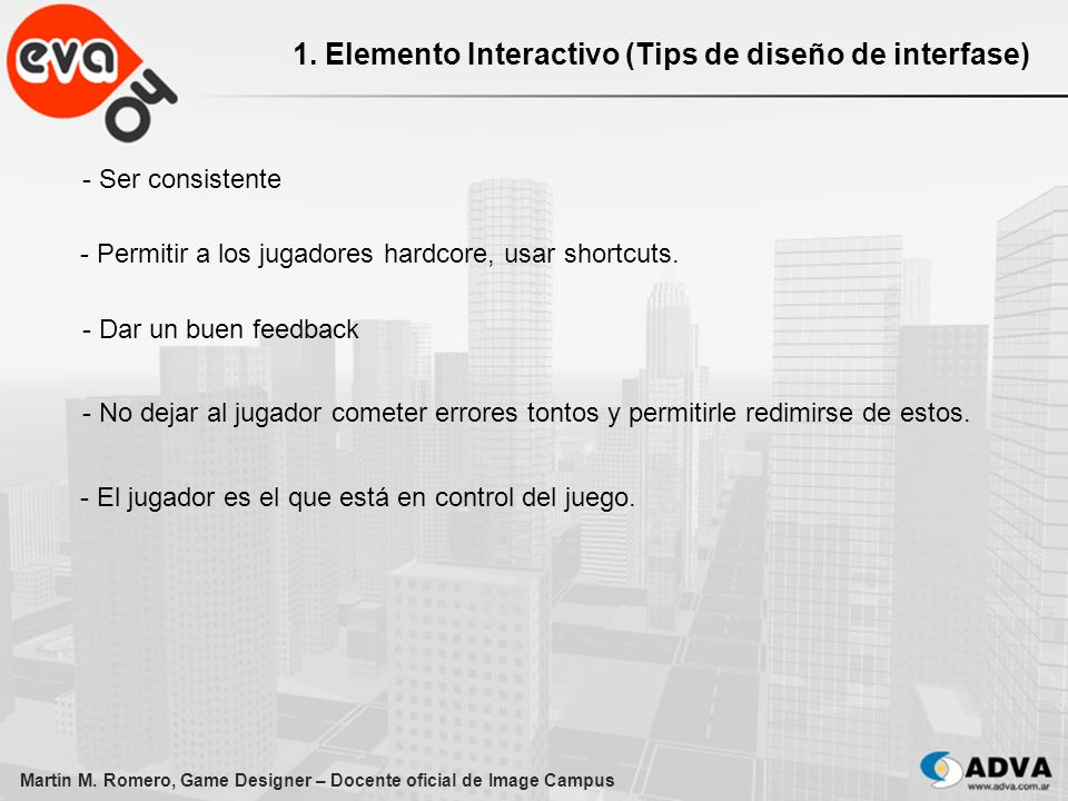 1. Elemento Interactivo (Tips de diseño de interfase)