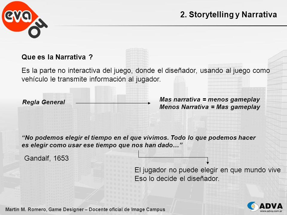 2. Storytelling y Narrativa