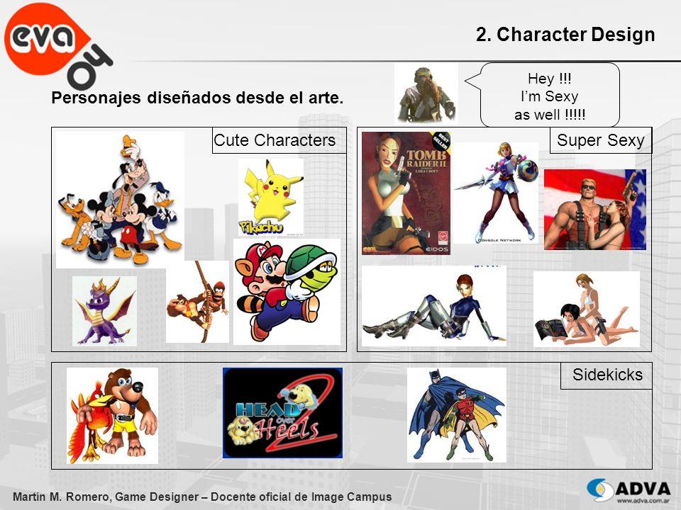 2. Character Design Personajes diseñados desde el arte.