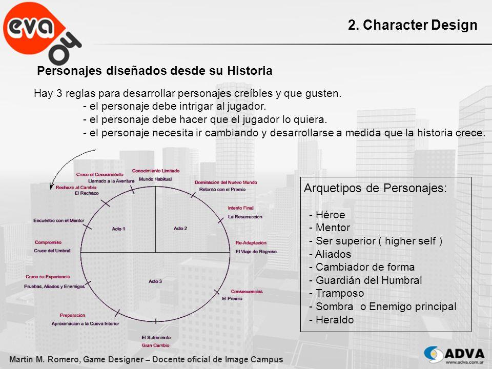 2. Character Design Personajes diseñados desde su Historia