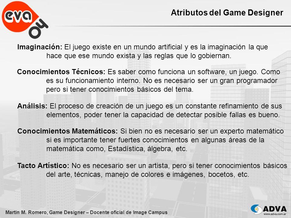Atributos del Game Designer