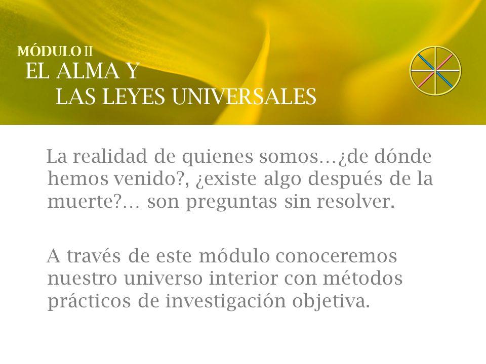 EL ALMA Y LAS LEYES UNIVERSALES