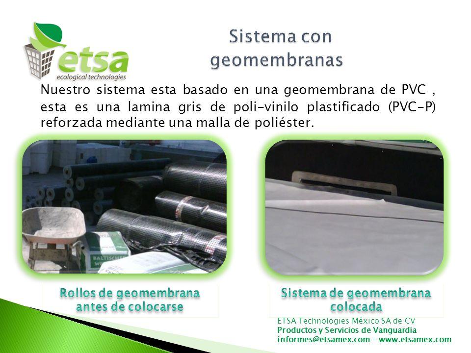 Sistema con geomembranas