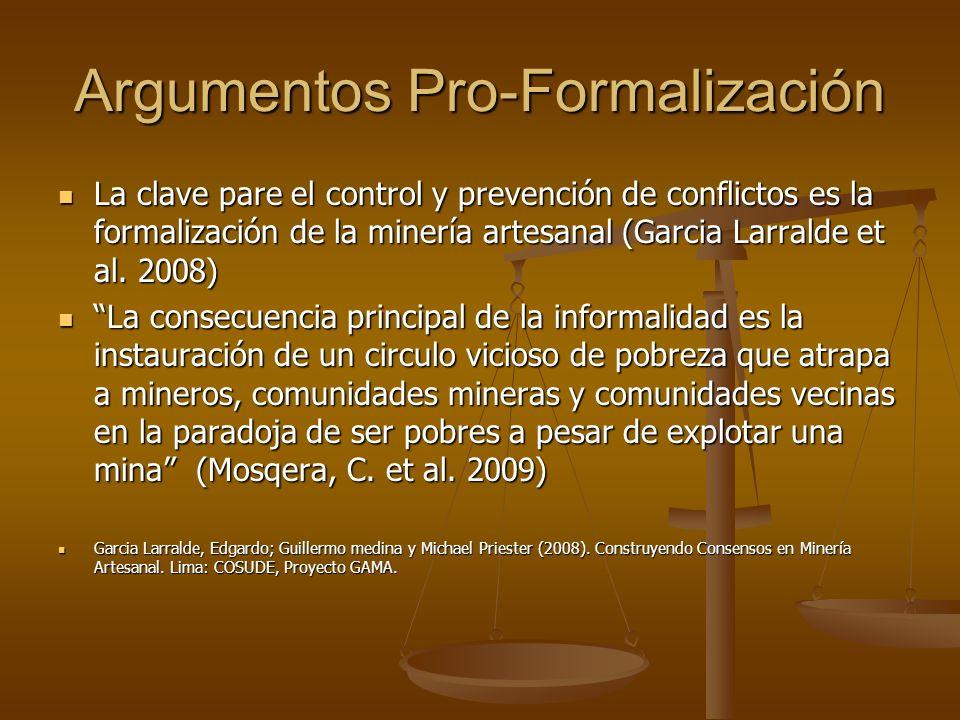 Argumentos Pro-Formalización