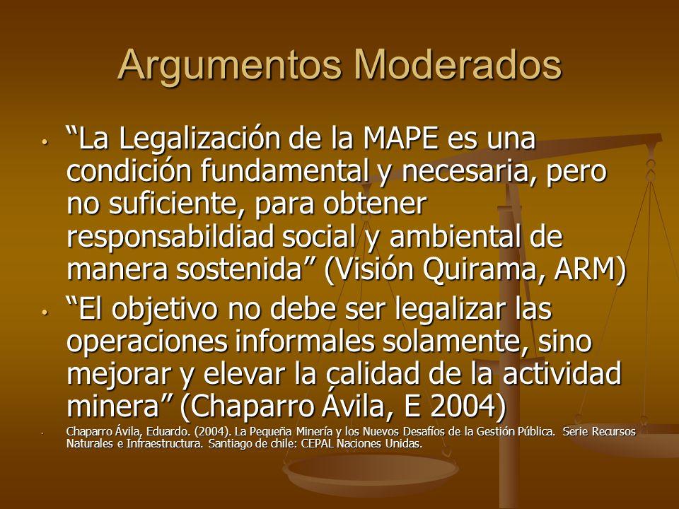 Argumentos Moderados